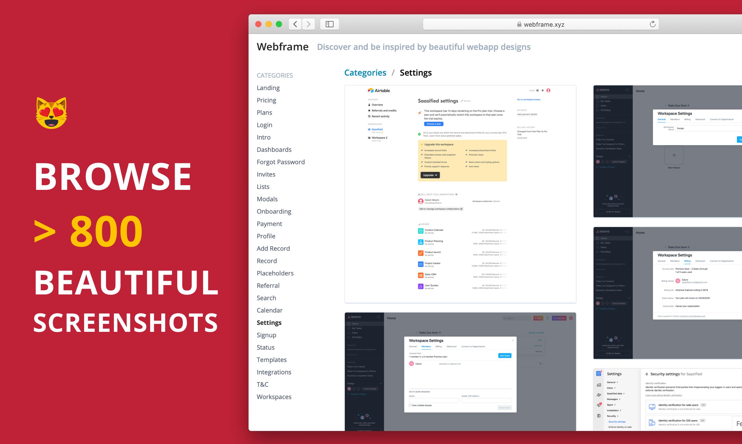 Beautiful Web App Screenshots